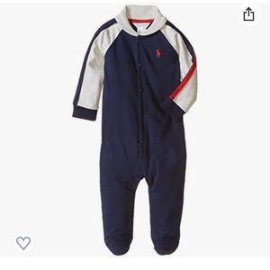 Ralph Lauren 3 Month Boys Button Up Footie